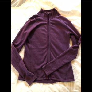 EUC plum purple The North Face zip sweater